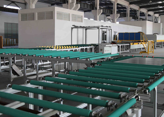 Transfer dan Turning Glass Transport Table Line Antara Kaca Grinding Machine Dan Tungku